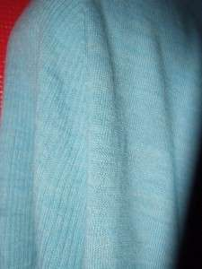 EILEEN FISHER aqua blue SOFT MERINO WOOL open front cardigan sweater $