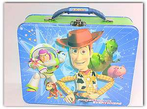 NEW TOY STORY METAL TIN LUNCH BOX PROTECTING TOYS EVERYWHERE FREE
