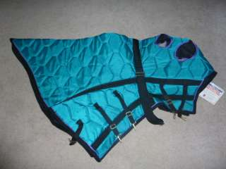 NEW SILVER ROYAL OLYMPIAN FULL QUILTED HORSE HOOD