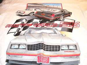 Monte Carlo SS Chevrolet Chevy General Motors Brand t shirt various