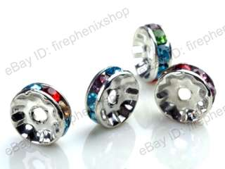 Basketball wives Earring Crystal Rhinestone Rondelle Spacer Beads 10mm