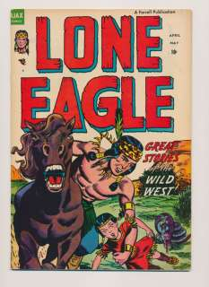 LONE EAGLE #1 VG, Golden Age, Western, Ajax Comics 1954