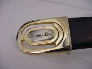CHRISTIAN DIOR Gold Silver Belt Buckle