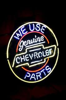 CHEVROLET GENUINE PARTS AMERICAN AUTO NEON LIGHT SIGN me370 |