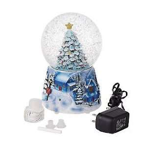 LORI GREINER BATTERY OPERATED CHRISTMAS TREE SNOW GLOBE W PINE