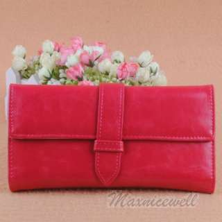 New Colorful Popular Womens Pure Color Quality Wallet Purse Clutch
