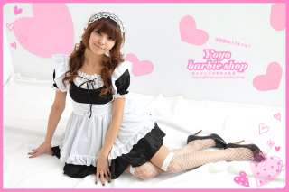 Halloween Party Beauty Sexy Maid Anime Cosplay Costume White Apron M L