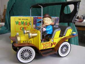 OFFICIAL MR. MAGOO CAR + Orig Box, 1961, Hubley, works!