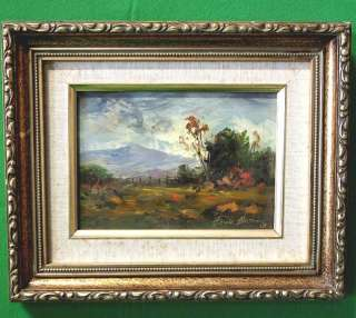 California Artist Heinie Hartwig Signed Oil on Board in a Gilt Frame