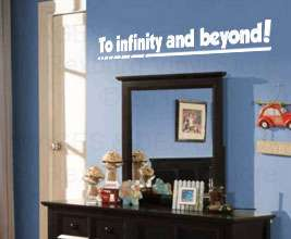 Toy Story Disney Vinyl Wall Art Sticker Decal Quote Inspirational