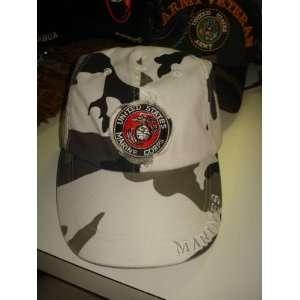 united states marines embroidered adjustable cap 100%