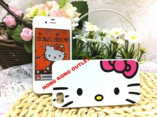 Hello Kitty Case Cover Skin For iPhone 4 4G White Face A103