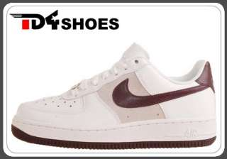 Nike Wmns Air Force 1 07 White Deep Burgundy 2011 New Casual Shoes