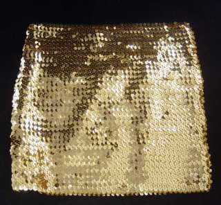 Stretch Sequin Mini Skirt or Tube Top Gold, Black, or Silver O/S