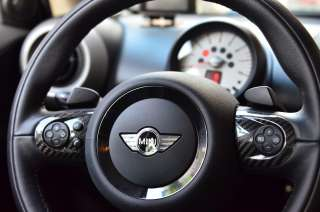 2pcs Mini cooper S Carbon fiber JCW steering wheel cover R58 R55 R56