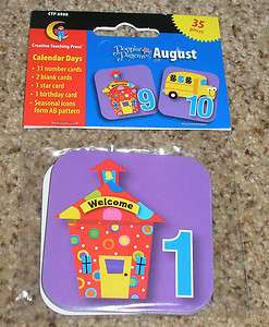 Teacher ResourceBack to School / Aug/Sept Calendar Number Cards
