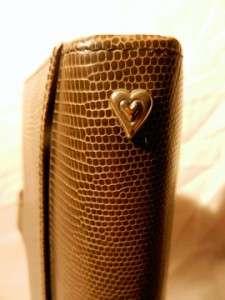 Brighton Black Leather & Flower Pattern Tweed Clutch Calender & Wallet