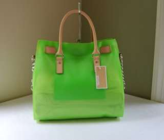 268 Michael Kors Hamilton Jelly Large Tote Green
