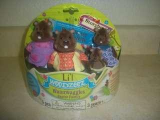 NEW Lil Woodzeez Waterwaggles Beaver Family+ Story Book