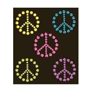 Jolees Bling Mobile Art Peace Signs; 3 Items/Order Arts