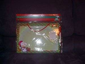 PEANUTS SNOOPY WOODSTOCK CHRISTMAS DRY ERASE BOARD NEW