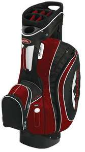 Sun Mountain 2012 S ONE Cart Golf Bag BLACK / RED 15 Way Divided Top