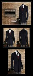 Mens Slim Cashmere Winter Long Coat NWT 4clr M L (TSLC) 076783016996
