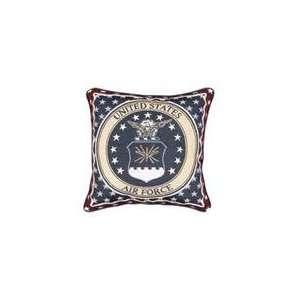 U.S. Air Force Insignia Theme Decorative Throw Pillow 17 x