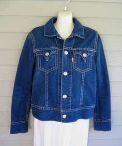 Levis Type 1 Iconic Navy Blue Denim Jean Jacket Childrens XL or