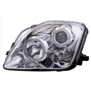 97 01 Honda Prelude Chrome LED Halo Projector Headlights