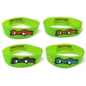 Teenage Mutant Ninja Turtles Tmnt Rubber Face Mean Logo Wristband