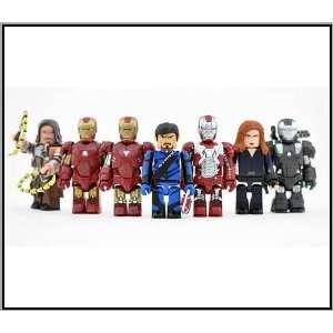 Medicom Marvel Iron Man 2 Kubrick Set of 7 with Secret