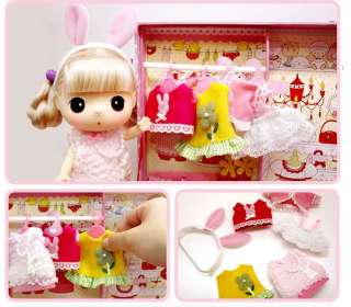 Lovely Cute Collectible Doll DDUNG Dress Room Suitcase