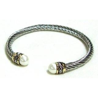 Designer Inspired Hinged Cable Bracelet Jewelry