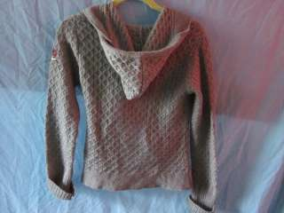Odd Molly Uncorporated Gray Cardigan Wrap Sweater Sz 1 Women Hooded