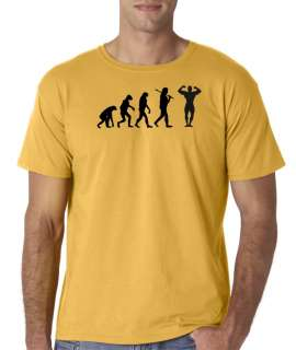 Mens Evolution of Man Bodybuilding Gym T Shirt Tee Trainer Workout