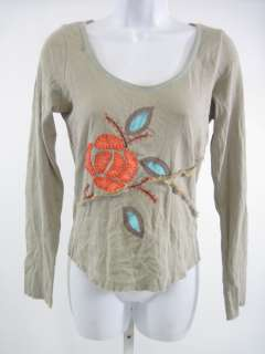 LANGUAGE LOS ANGELES ANTHROPOLOGIE Embroidered Shirt M