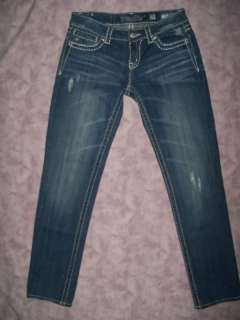 GEMS ** MISS ME Skinny Jeans 28 x 30 Juniors/Womens Stretch SWEET