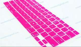 New Hot Pink KeyBoard Cover MacBook pro 13.3 15.4 17