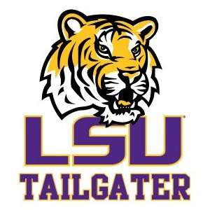 LOUISIANA STATE UNIVERSITY TIGERS TAILGATER clear vinyl