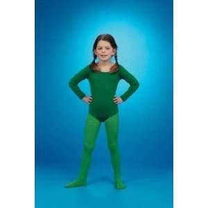 Long Sleeved Bodysuit (green) Child Costume Accessory Size