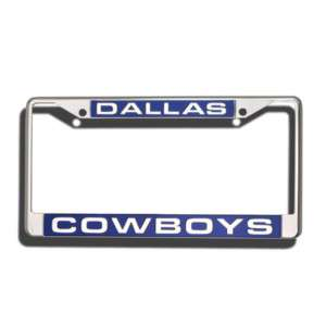 DALLAS COWBOYS CAR AUTO LASER CUT CHROME LICENSE FRAME