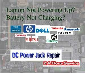 Laptop AC DC Power Jack Repair Service HP Dell Toshiba Lenovo Sony