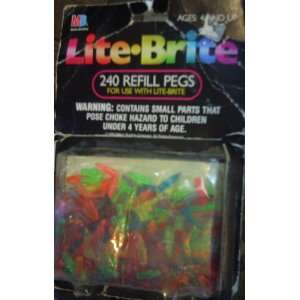 Lite brite Refill Pegs (240 Count) Toys & Games