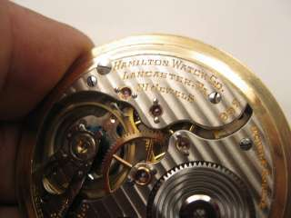 1920 HAMILTON 992 SOLID GOLD CENTER WHEEL & 21 JEWEL SETTINGS 5