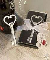 100 Heart Key Bottle Opener Favors Shower Wedding Favor