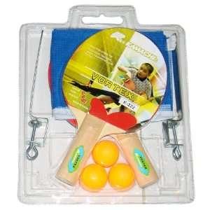 Kamachi Vortex Table Tennis Set, 2 Bats, 3 Balls & Net Set