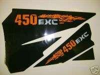 KTM 125525 EXC 07 AIRBOX DECALS, STICKERS,GRAPHICS