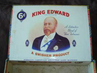 King Edward Invincible The Seventh Cigar Box 6 Cent