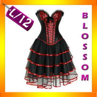 BAK Kiss Burlesque Moulin Rouge Corset Skirt Set S 8